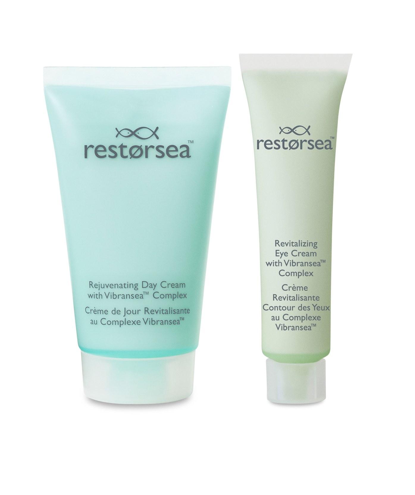 Rejuvenating Day Cream and Revitalizing Eye Cream Starter Kit - Full Size Travel Tubes